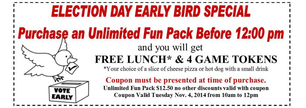 Election early bird coupon11.4.2014