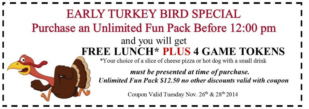 THANKSGIVING early bird coupon2014