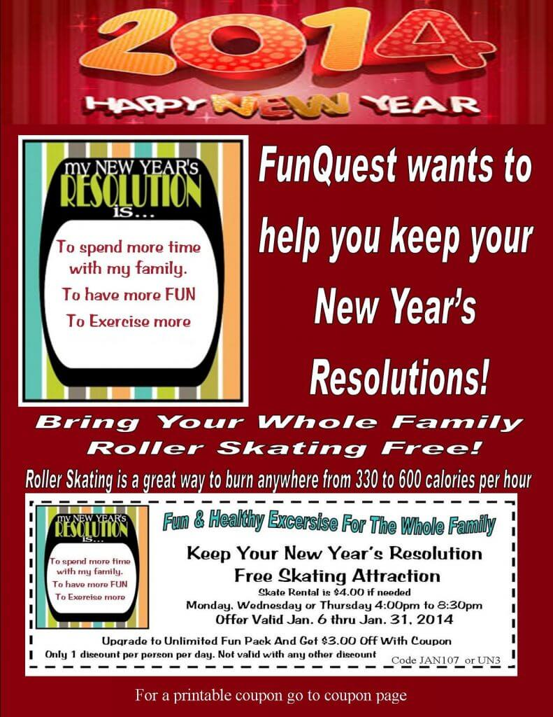New Years Resolution flyer web site