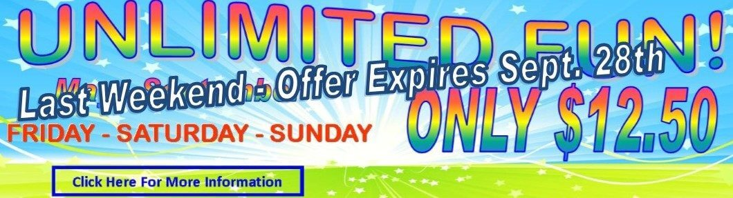 Unlimited Fun Only $12.50