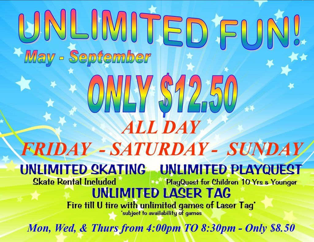Unlimited Fun May - Sept SPECIAL