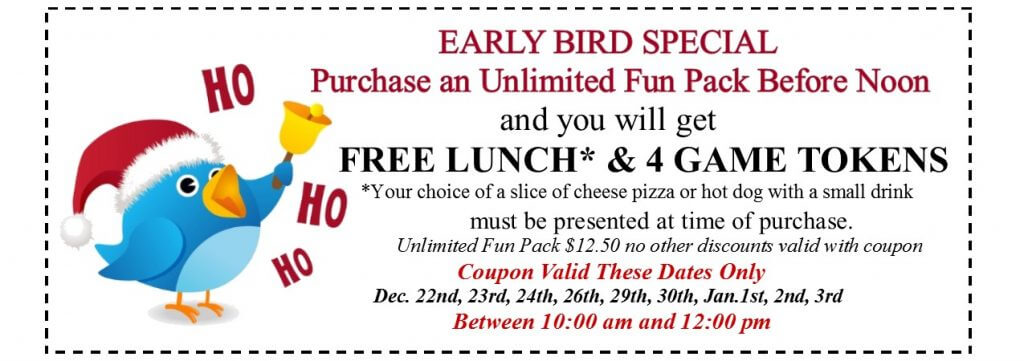 Dec. early bird coupon