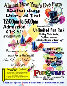 daytime new year's eve party