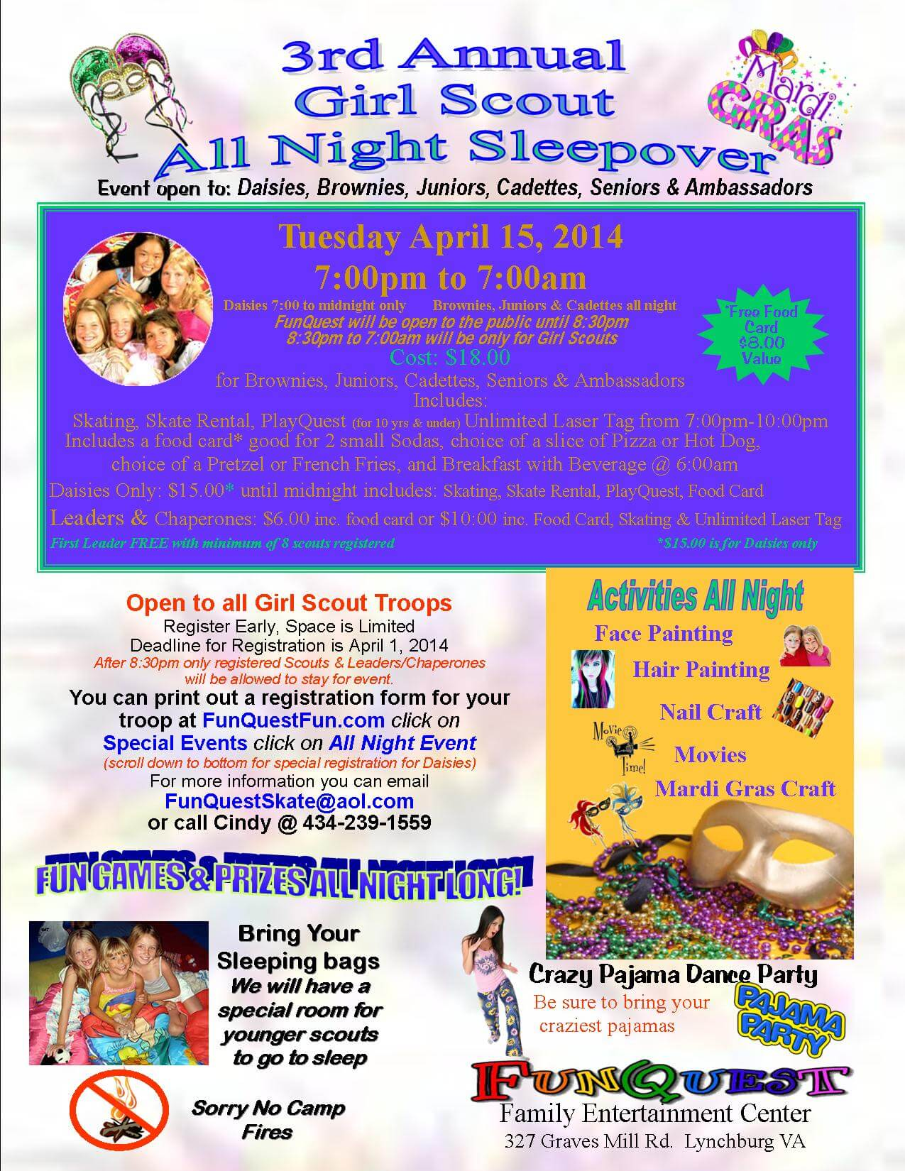 2014 Girl Scout All Night Event