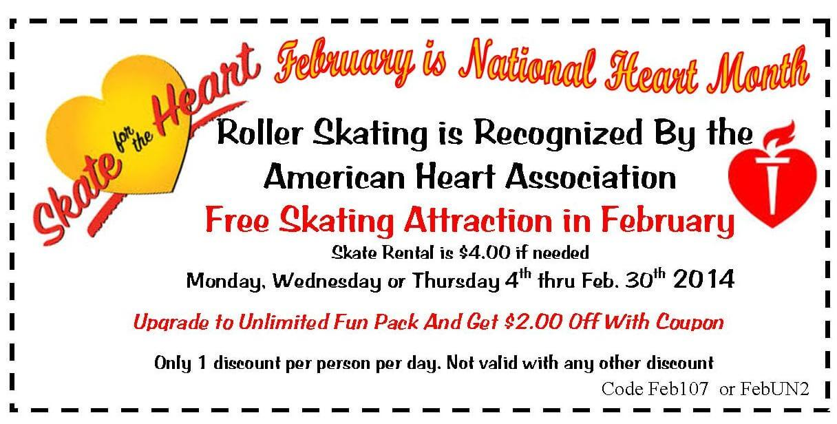 Skate for Your Heart coupon 2.14