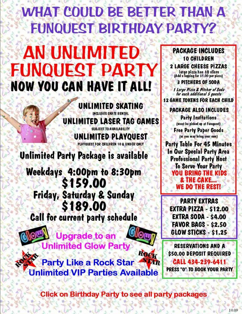 UNLIMITED PARTY PACKAGE 5.14 flyer