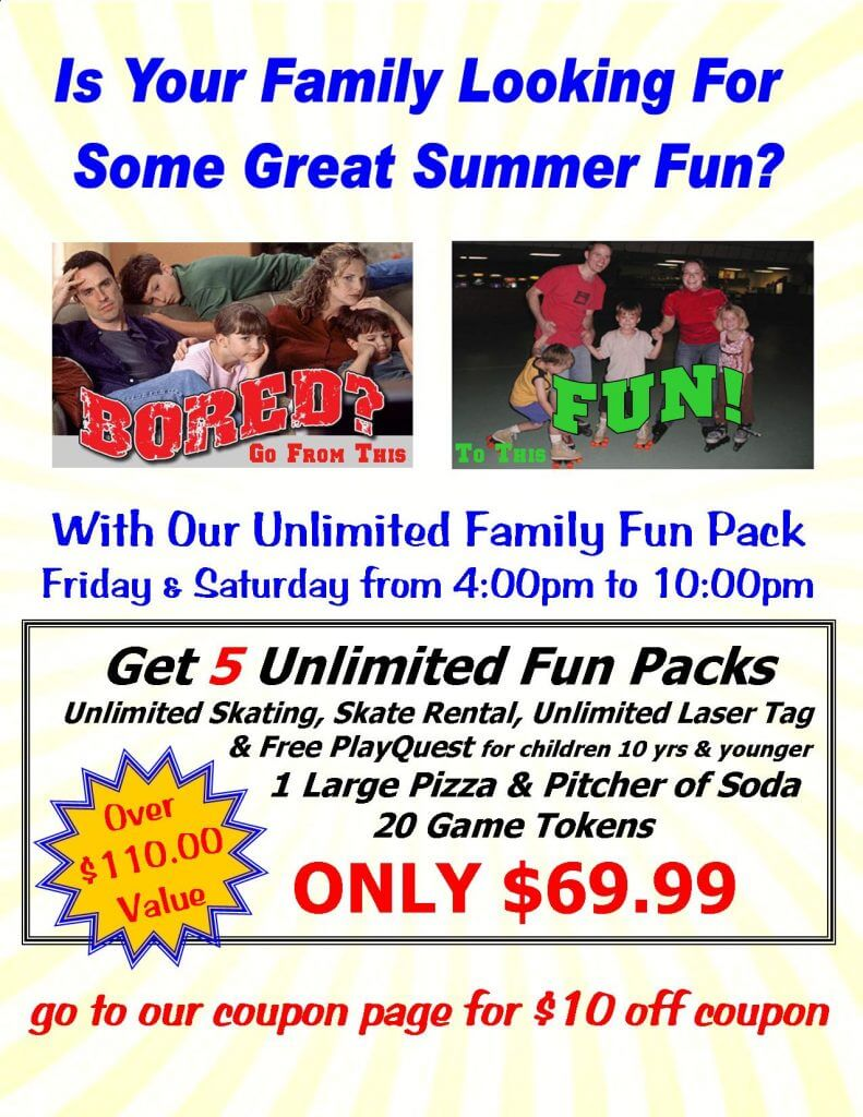 Unlimited Summer Family Fun Pack Weekly special page
