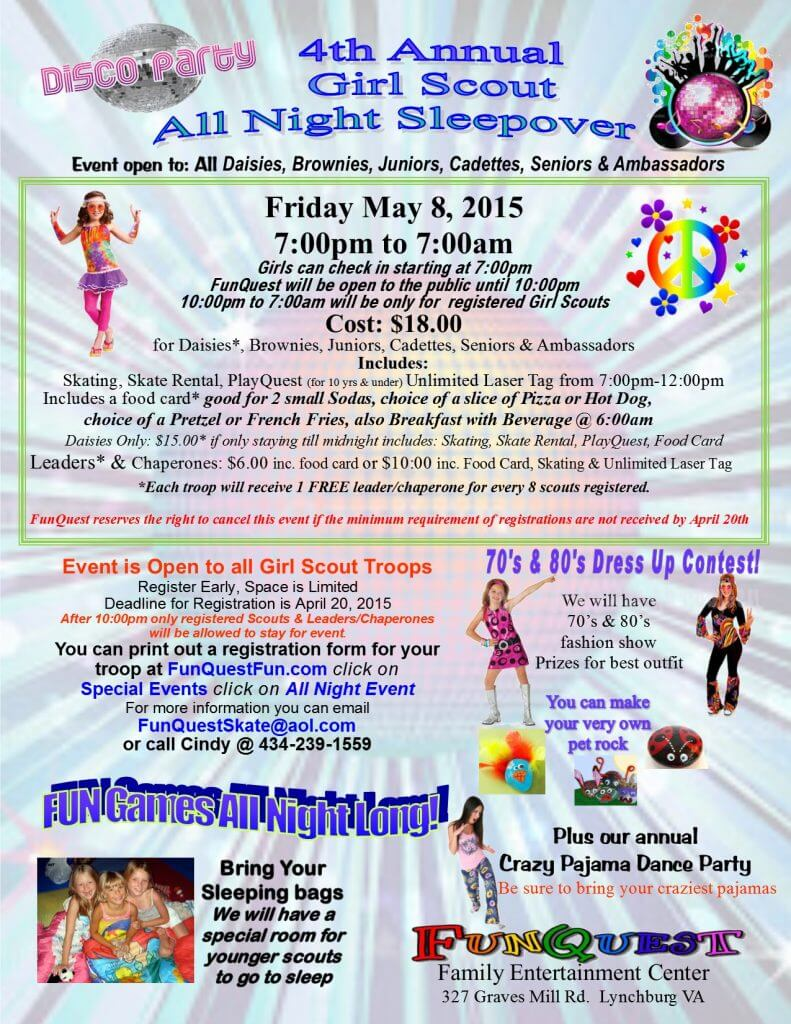 2015 Girl Scout All Night Event