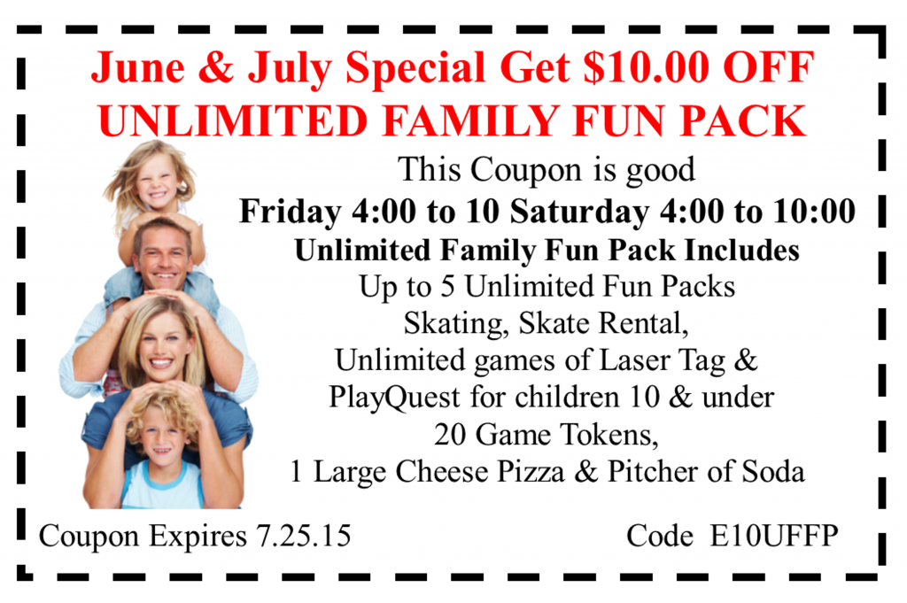 10.00 off family fun pack