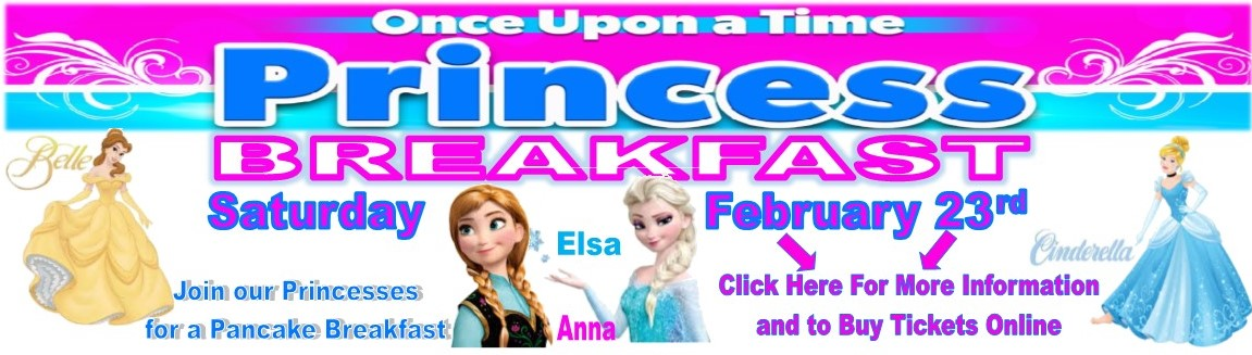 Princess breakfast 2.23.18 with ticket purchase option